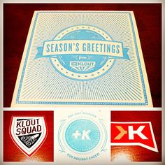 Holiday Card from @Klout #Klout #Kloutperks