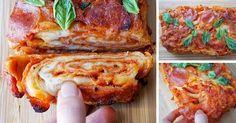 PIZZA ako ju nepoznáte! Tento jedinečný recept na pizzu budete chcieť vyskúšať aj vy doma! Pletený pizza koláč. Pletená pizza, pizzový koláč, postup
