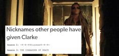 The 100 + Tumblr Text Posts || Clarke Griffin || The 100 crack || Eliza Jane Taylor