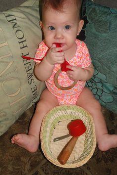 Atividades com o bebê de seis meses!