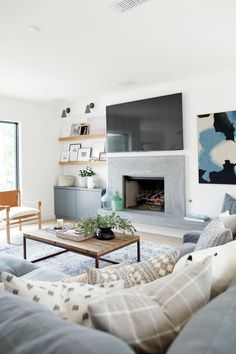 Bright, coastal living room | Studio McGee Rangeview Reno Pt. 2