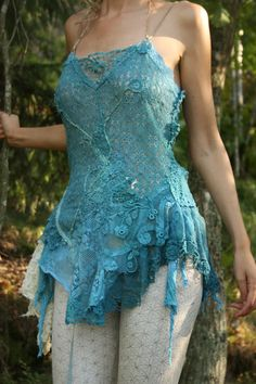 RESERVED The peacock fae dress with bustle skirt by FractalWings