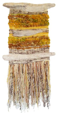 Arte Textil Marianne Werkmeister :: looks like driftwood incorporated into the design ; Weaving Textiles, Weaving Art, Tapestry Weaving, Loom Weaving, Hand Weaving, Textile Fiber Art, Weaving Projects, Woven Wall Hanging, Weaving Techniques