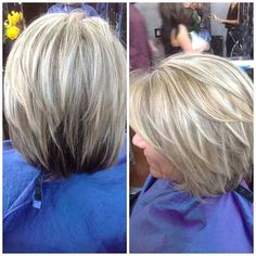 This is my favorite of the grey hair with blonde highlights - Couleur Cheveux 01 Blonde Hair With Grey Highlights, Blonde Streaks, Blonde Hair Going Grey, Highlights For Gray Hair, White Hair With Lowlights, Grey Blonde, Blonde Color, Medium Hair Styles, Short Hair Styles