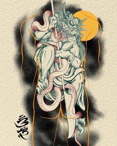 Cover Up Tattoos, New Tattoos, Irezumi Tattoos, Asian Tattoos, Oriental Tattoo, Japan Tattoo, Japanese Design, Tattoo Sketches, Japan Art