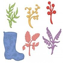 Rain Boots and Blossoms Die $29.99