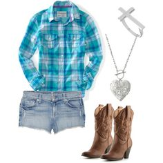 I've never been a Southern Belle and this look has never fit into my lifestyle but I sure do think a (body appropriate) girl in plaid, daisy dukes and cowboy boots is CUTE!!!
