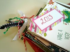 Easy organization for Christmas cards!