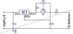 Ni-MH Ni-Cd Adjustable Constant Current Battery Charger circuit