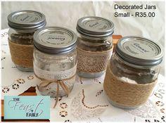 Collections Decorated Jars, Mason Jars, Table Settings, Decorations, Collections, Drink, Table Top Decorations, Dekoration, Canning Jars