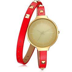 GEEKTHINK Top Luxury Brand Quartz Watch Women Lady's Punk Rivet Leather Bracelet Strap Fashion Dress Wrsitwatch Gift Designer
