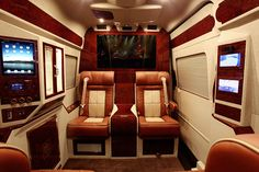 This Mercedes Benz Sprinter Passenger Van  has been given the royal treatment by Lexani Motorcars who specializes in outfitting coaches ...