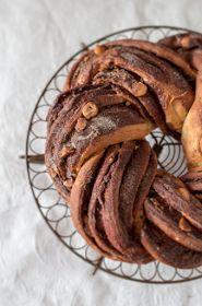 Chocolate hazelnut twist
