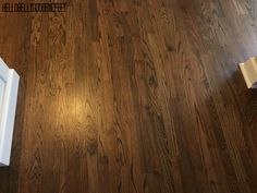 Hardwood floor stain, Dark Walnut by Minwax