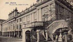Palacio de Liria  antes de su destrucción a manos de los nacionales, en un bombardeo y después saqueado por los republicanos.