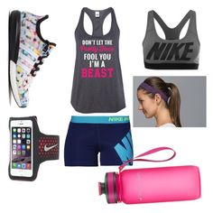 """gettinf my workout on!"" by duffyhannah ❤ liked on Polyvore featuring NIKE, adidas, lululemon and Sweaty Betty"
