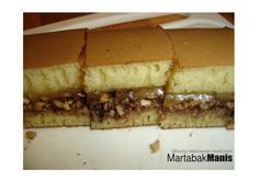 Martabak Manis (Indonesian sweet thick pancake) is one of popular snacks in Indonesia. It is also known as 'Terang Bulan' (means 'shinning moon' in English) in Surabaya (East Java) or 'Martabak Bangka' in Bandung (West Java). You can easily find it along the streets in almost big cities in Indonesia as common street food that usually sold by street vendors in the evening.