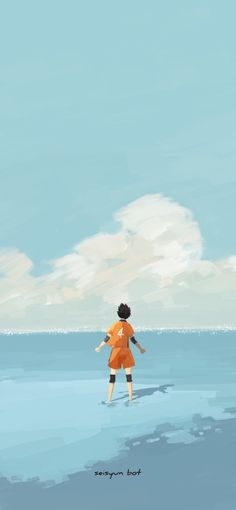 Nishinoya at the sea - Art bot Haikyuu Nishinoya, Haikyuu Fanart, Haikyuu Anime, Haikyuu Wallpaper, Cute Anime Wallpaper, Wallpaper Lockscreen, Animes Wallpapers, Cute Wallpapers, Manga Anime