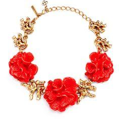 Rental Oscar de la Renta Coral Burst Necklace ($95) ❤ liked on Polyvore featuring jewelry, necklaces, accessories, bracelets, pink, long pink necklace, coral necklace, coral jewellery, pink necklace and oscar de la renta jewelry