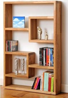 A unique bookshelf.