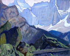 Exhibition: 'Painting Canada: Tom Thomson and the Group of Seven' at the Dulwich Picture Gallery, London – Art Blart Emily Carr, Group Of Seven Artists, Group Of Seven Paintings, Mountain Landscape, Landscape Art, Landscape Paintings, Landscapes, Canadian Painters, Canadian Artists