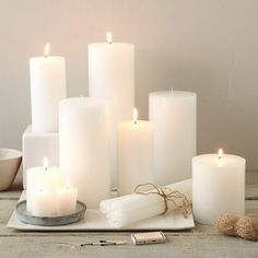 Unscented Candles | west elm // Lots of pretty (unscented) candles! Maybe along top of my bookshelves?