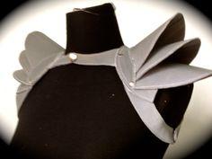 Reflective Shoulder Harness Fantasy Warrior Armor - Grey / White. $250.00, via Etsy.