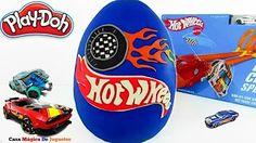 Huevo Sorpresa Gigante de Hot Wheels Parte 1 de Plastilina Play Doh en Español Hotwheels - YouTube