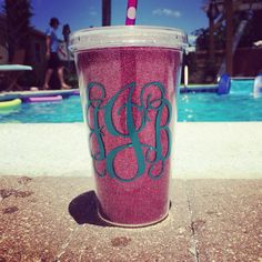 Cool summer time cup so easy to do with a cricket
