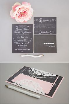 chalk board wedding invites- free giveaway of $350 in wedding stationary!