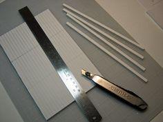 Cut long strips first