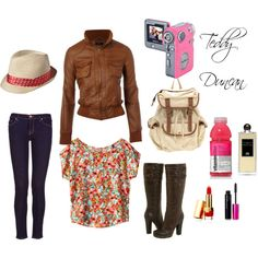 This is a collection of something like what Teddy from goodluckcharlie would wear! I love her clothes!!!