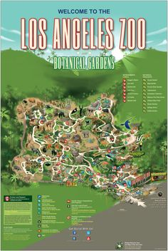 Los Angeles Zoo and Botanical Gardens | Zoo Map #datemehere Pinned by: www.spinstersguide.com