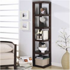 "Gergich Hills 75"" Corner Unit Bookcase & Reviews 