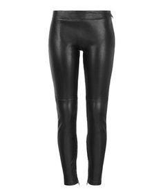 Rica black leather stretch trousers  Sale - Muubaa Sale