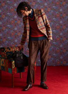 70s Fashion Men, Mens Fashion Sweaters, Best Mens Fashion, Mens Fashion Suits, Fashion Week, New Fashion, Fashion Outfits, Men's Outfits, Fashion Show Collection