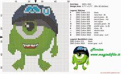 Punto De Cruz baby monsters inc cross stitch pattern Disney Cross Stitch Patterns, Cross Stitch For Kids, Cross Stitch Baby, Pixar, Monsters Inc, Beaded Cross Stitch, Cross Stitch Embroidery, Learn Embroidery, Embroidery Patterns