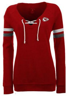 Kansas City Chiefs Antigua Crew Sweatshirt - Chiefs Womens Red Foxy Long  Sleeve http:/