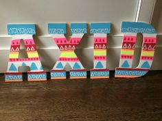Alpha Xi Delta tribal letters, sorority crafts, big little crafts, letters