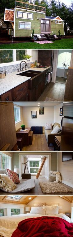 A Bay Area couple contacted Tiny Heirloom to build their tiny home, the Tiny Craftsman Home, including a rooftop deck. A Bay Area couple contacted Tiny Heirloom to build their tiny home, the Tiny Craftsman Home, including a rooftop deck.