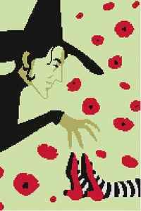 Wicked Witch Cross Stitch http://i.ebayimg.com/t/Wizard-of-Oz-Among-the-Poppies-Cross-Stitch-Pattern-/00/s/MTM0OVg5MDM=/$T2eC16J,!w0E9szN(WoJBQ4817lG)w~~60_35.JPG