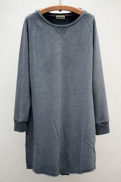 Sweatshirt Dress — Anthracite