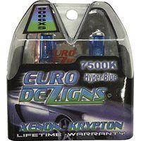Cheap EuroDezigns 9006xs White/Blue Headlights - Low Beam 7500k Xenon-Krypton…