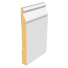 """Primed Architectural Baseboards 8' - Baseboard 9/16"""" x 5 1/4"""" x 8' Speed Base"""