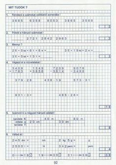 Kiszámoló 4. osztály Sheet Music, Bullet Journal, Math Equations, Music Sheets