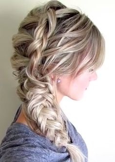 dutch braid pony tail hairstyle tutorial #hairstylestutorial