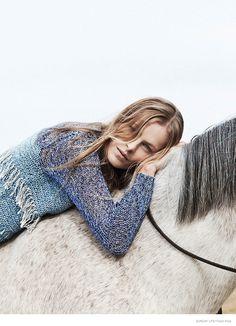 emma balfour horse fashion shoot 03 Emma Balfour Embraces Nature for Sunday Life by Trevor King
