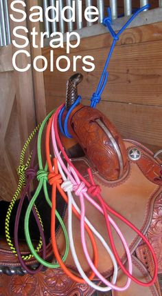 These Saddle Straps are great for your stables, instead of using huge saddle racks that get in the way