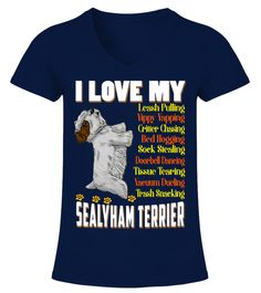 """# I Love My Sealyham Terrier Dog .  HOW TO ORDER:1. Select the style and color you want2. Click """"Buy it now""""3. Select size and quantity4. Enter shipping and billing information5. Done! Simple as that!TIPS: Buy 2 or more to save shipping cost!This is printable if you purchase only one piece. so don't worry, you will get yours.Guaranteed safe and secure checkout via: Paypal 