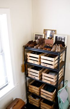 {Manage it Monday} Wood Crate Dresser | www.gimmesomestyleblog.com #organize